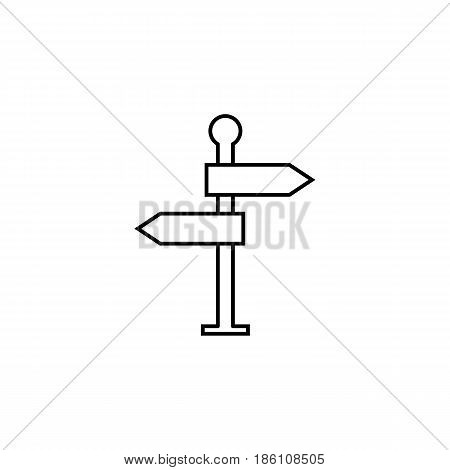 Signpost line icon, navigation road sign, vector graphics, a linear pattern on a white background, eps 10.