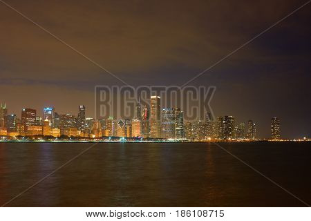 CHICAGO, IL - CIRCA MARCH, 2016: view of Chicago high-rise buildings
