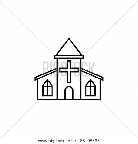 Church line icon, religious monument and building sign, vector graphics, a linear pattern on a white background, eps 10.
