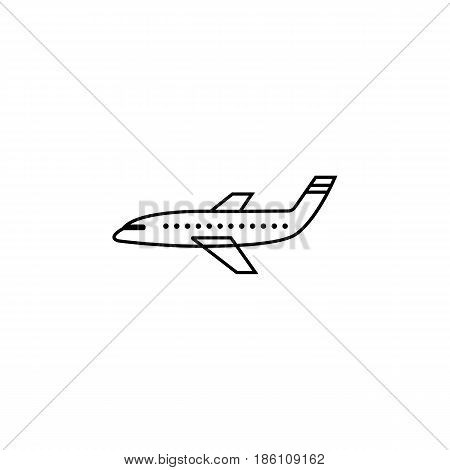 Airplane line icon, navigation and air transport sign, air fly vector graphics, a linear pattern on a white background, eps 10.