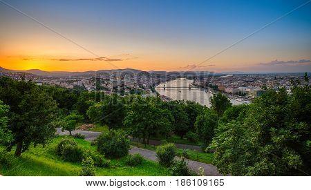 View of Budapest City from Gellert Hill
