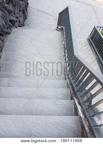 staircase and ramp for wheelchair, concrete staircase