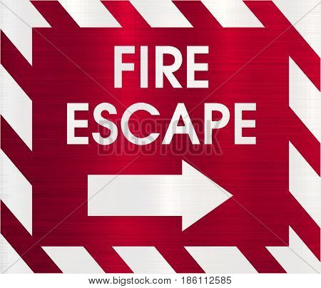 fire escape direction sign emergency  fire evacuation