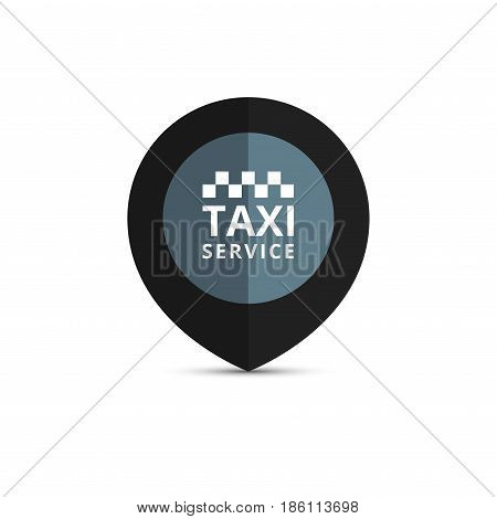 Taxi, cab logo Taxi point graphic icon. Vector illustration.