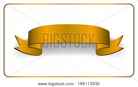 Ribbon Gold Banner Satin Blank Collection