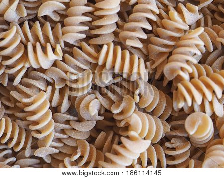 Fusilli Italian Pasta Background