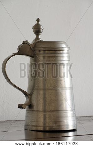 tankard pewter old kitchen equipment objects retro