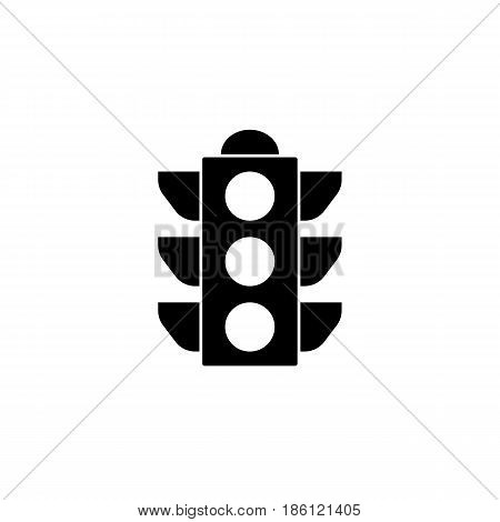 Traffic light solid icon, stop light and navigation, vector graphics, a filled pattern on a white background, eps 10.