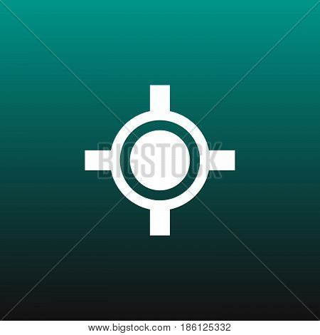 target vector icon isolated on green background
