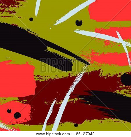 Irregular modern vector freehand decoration. Abstract colorful chaotic fantasy art.Hipster paper retro style dirty drawing