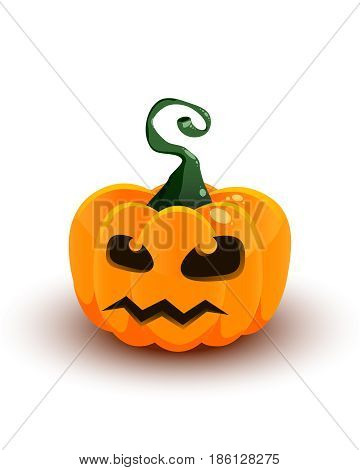 the real volume pumpkin with scary face