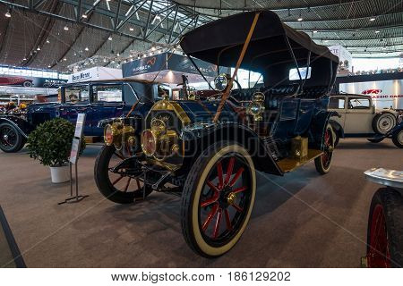 STUTTGART GERMANY - MARCH 02 2017: Vintage car Cadillac Model Thirty 1911. Europe's greatest classic car exhibition
