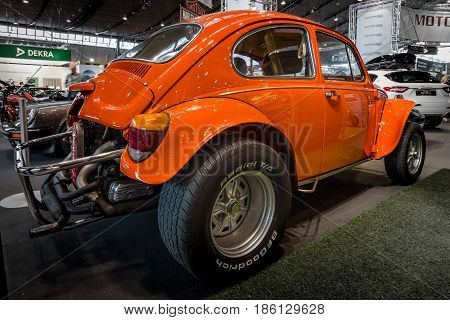 STUTTGART GERMANY - MARCH 02 2017: Buggy Volkswagen Beetle (Hazard Baja) 1970. Europe's greatest classic car exhibition