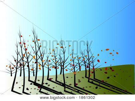 Autumn Leaves Fall.Eps