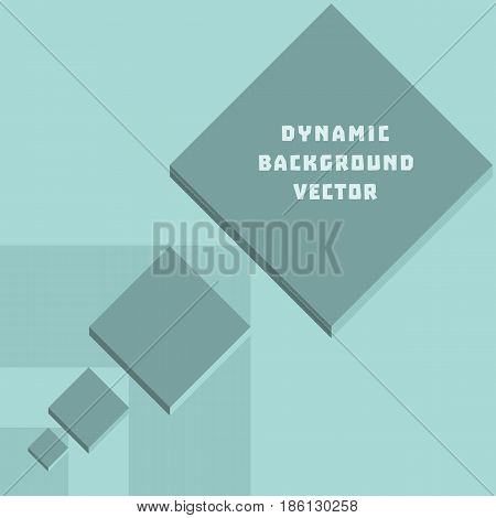 Vector Abstract geometric rhombus shape concept. 3-d square blocks background in dynamic effect modern style. Perspective design for business cover template. Layout element of texture abstraction