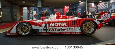 STUTTGART GERMANY - MARCH 02 2017: Racing car Kremer Porsche K8 Spyder 1995. Europe's greatest classic car exhibition
