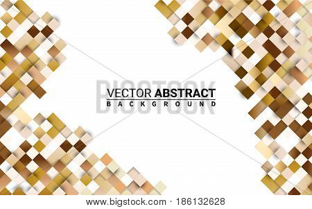 Cubic Pattern Seamless Golden. Colorful Grid. Abstract Geometric. Effect Realistic Design Elements. Vector Illustration Modern Background.