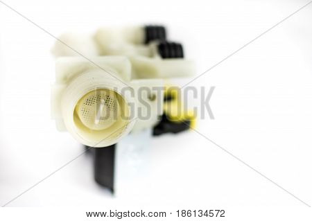 Hydraulics And Repair, Old Hydraulic Parts On A White Background