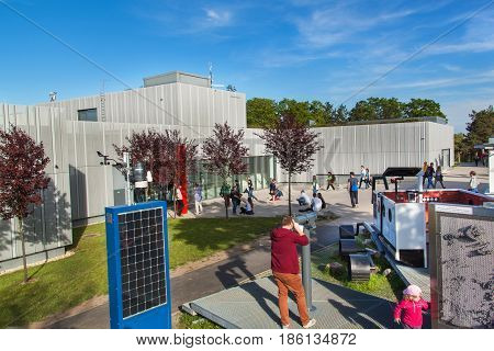 BRNO CZECH REPUBLIC - MAY 11 2017: The observatory was built in 1953 and was upgraded in 2011. It works as a lecture and education center