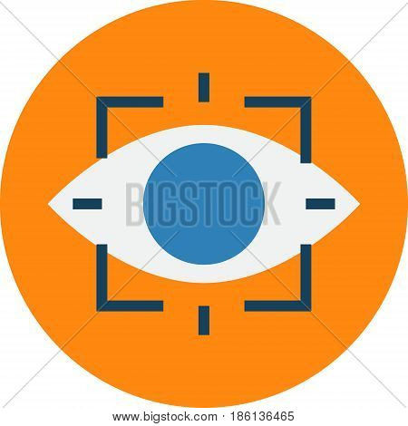 Retina Scan. Retinal Eye Scan Biometrics Technique Vector Icon.