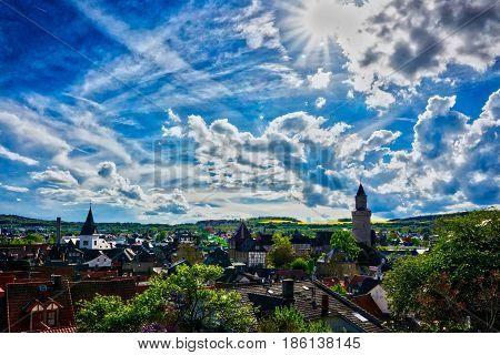 High angle view of my Hometown Idstein im Taunus