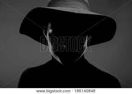 Female Silhouette Portrait