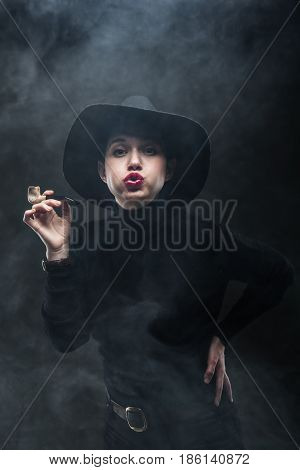 Girl With A Pipe