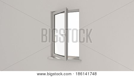 Window. Wall. Aluminum Window. White Window. Pvc Window.