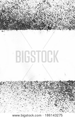 Very hight resolution. Geometric graffiti abstract background. Wallpaper with airbrush effect. Black acrylic paint stroke texture on white paper. Scattered mud art. Macro image. Hand made grunge