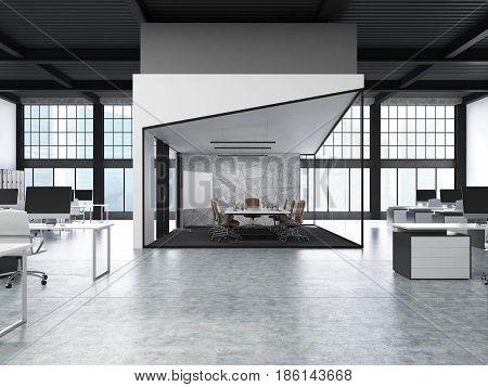 Open Office With Aquarium, Front