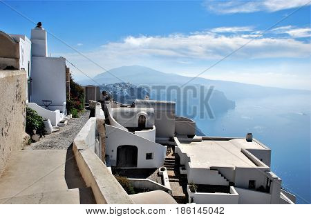 Imerovigli a town in santorini Island, Greece