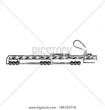 train icon old classic steam engine. vintage locomotive design vector illustration