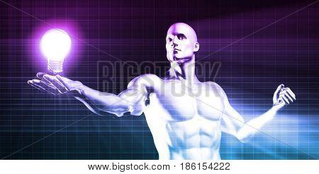 Imagination or Daring to Dream Think Big 3D Illustration Render