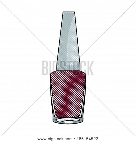 draw nail polish bottle cosmetic image vector illustration