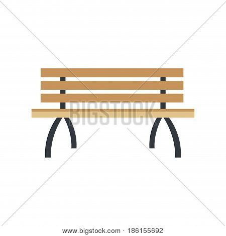 lonely brench furniture wooden image vector illustration