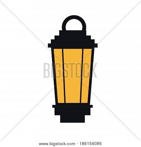vintage street lantern lamp light design vector illustration
