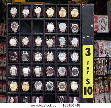 Watches For Sale At Street Market