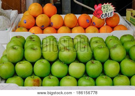Fruit Market In Chinatown, Singapore
