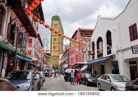 Street In Chinatown, Singapore