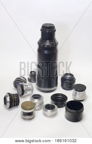 Set Of Old Soviet Lenses For Different Types Of Shooting