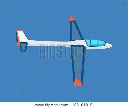 Air vehicles. A modern land glider hovering in the air. Modern vector illustration isolated on white background.