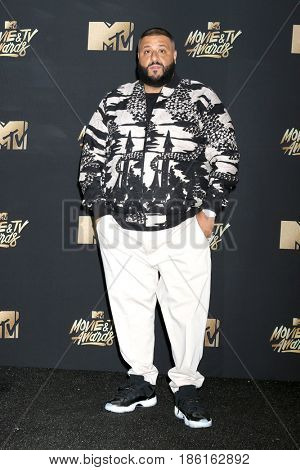 LOS ANGELES - MAY 7:  DJ Khaled at the MTV Movie and Television Awards on the Shrine Auditorium on May 7, 2017 in Los Angeles, CA