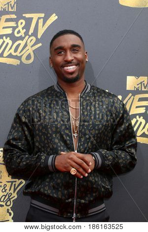 LOS ANGELES - MAY 7:  Demetrius Shipp Jr at the MTV Movie and Television Awards on the Shrine Auditorium on May 7, 2017 in Los Angeles, CA