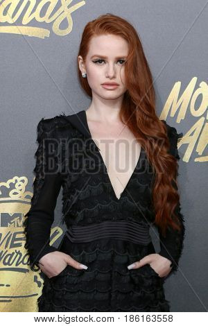 LOS ANGELES - MAY 7:  Madelaine Petsch at the MTV Movie and Television Awards on the Shrine Auditorium on May 7, 2017 in Los Angeles, CA