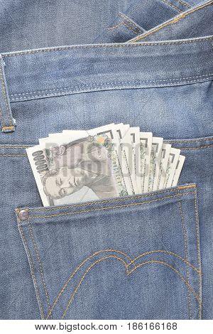 Japanese Yen In Jeans Pocket - 10,000 Yen
