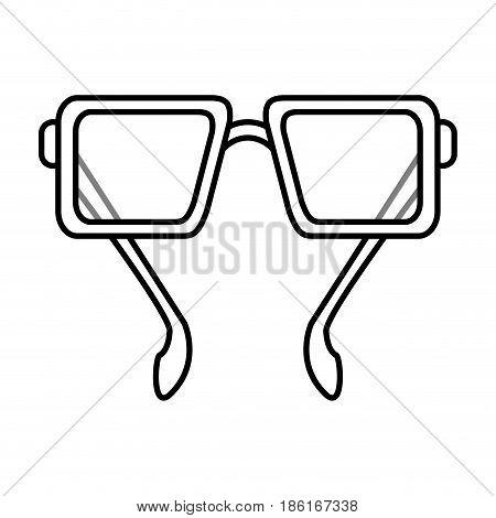 glasses frame icon image vector illustration design  single black line