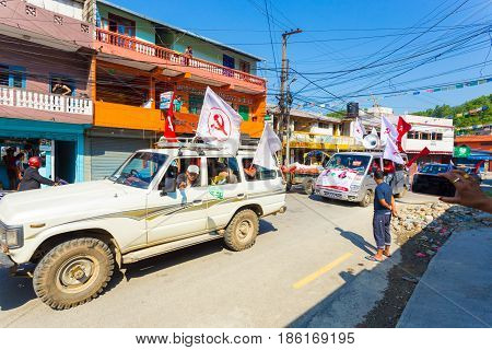 Nepal 2017 Elections Communist Party Supporters