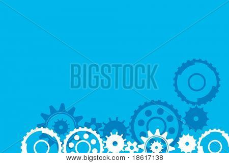 Blue wheel conceptual background