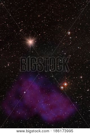 Star field in space a nebulae and a gas congestion. Elements of this image furnished by NASA . 3D rendering