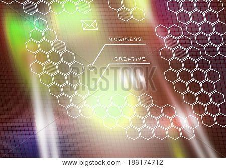 Digital background image presenting modern business concepts